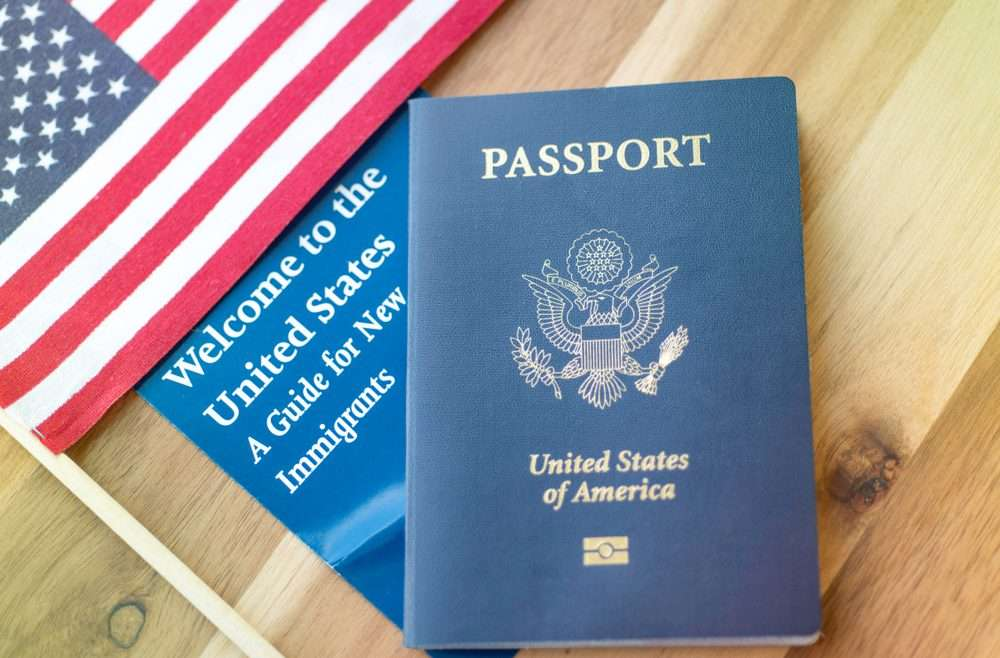 Picture related to immigration medial exam showing US Passport green card