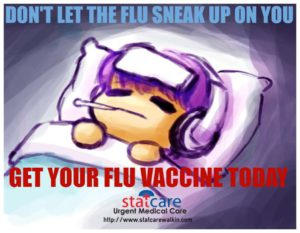 Don't let the flu sneak up on you: get a flu vaccine