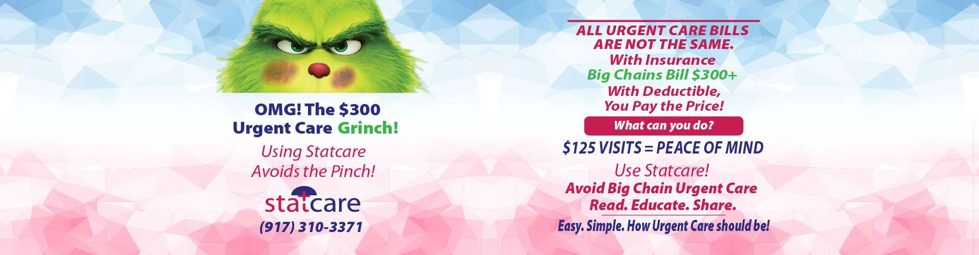 urgent care visit only 125 save from big name urgent care grinch
